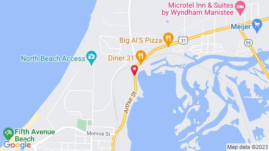 Super 8 by Wyndham Manistee Map