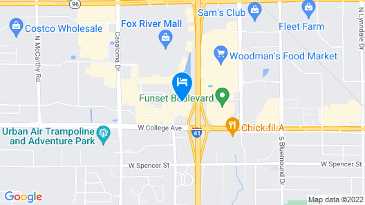 Hampton Inn Appleton-Fox River Mall Area Map