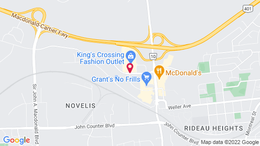 Courtyard by Marriott Kingston Highway 401/Division Street Map