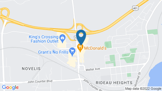 Holiday Inn Express & Suites Kingston Central Map
