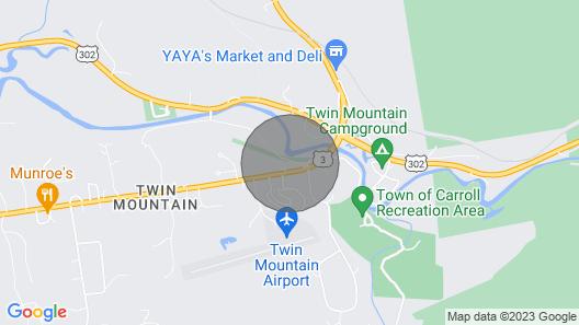 Custom Log Cabin Near Mt Washington, Bretton Woods,cannon,franconia,bethlehem Map