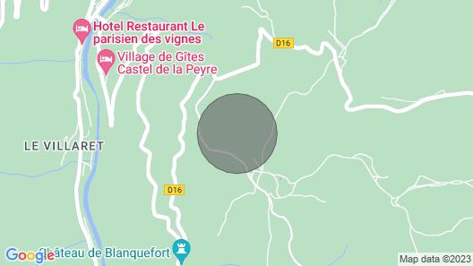 Gite le Bruel Commune les Vignes . Map
