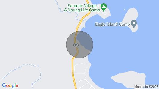 Adirondack Style Executive Home Right on Upper Saranac Lake Map
