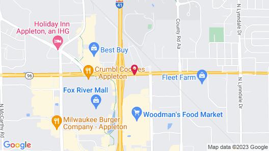 Comfort Suites Appleton Airport Map