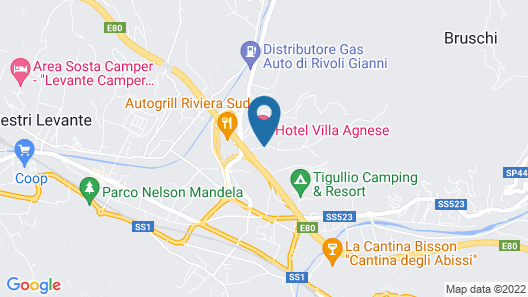 Villa Agnese Map