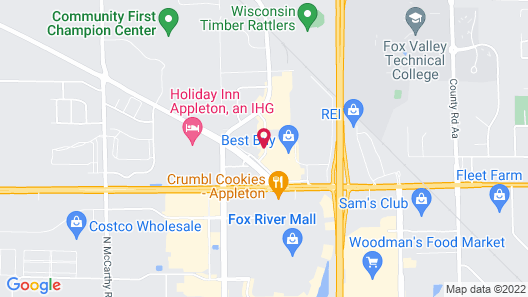 Best Western Plus Appleton Airport/Mall Hotel Map