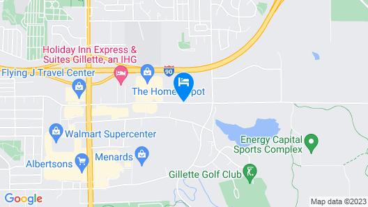 Home2 Suites by Hilton Gillette Map
