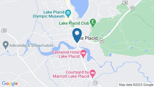 Downhill Apartments - Lake Placid Map