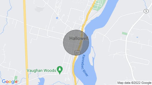 High End Apartment in Downtown Hallowell Map