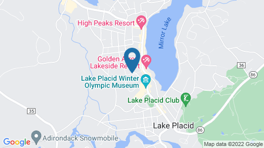 Crowne Plaza Lake Placid, an IHG Hotel Map