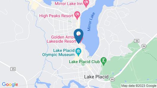 Golden Arrow Lakeside Resort Map