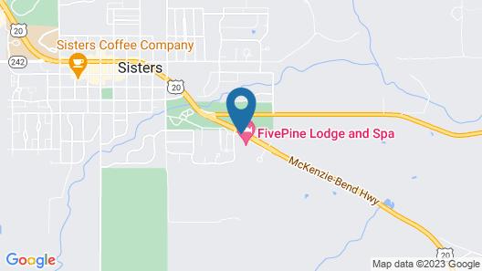 FivePine Lodge & Spa Map
