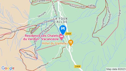Vacanceole - Les Chalets du Verdon Map