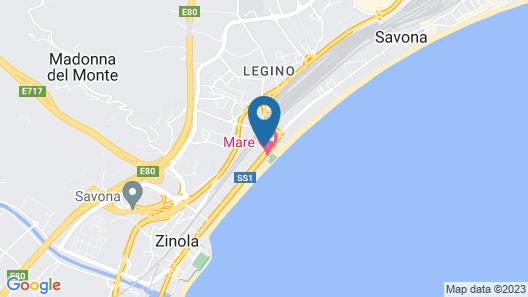 B&B Hotel Savona Map
