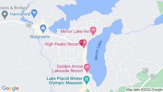 Lake Placid Summit Hotel / Resort and Suites Map