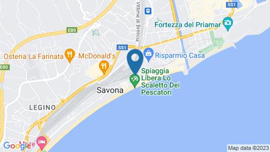 Apartment Near the Beach in Savona Map