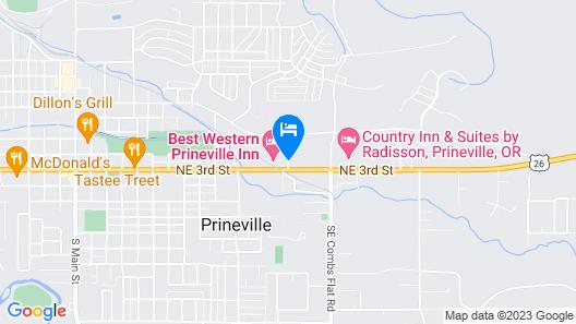 Best Western Prineville Inn Map