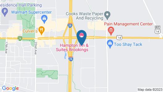 Hampton Inn & Suites Brookings Map