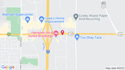 Holiday Inn Express & Suites Brookings Map