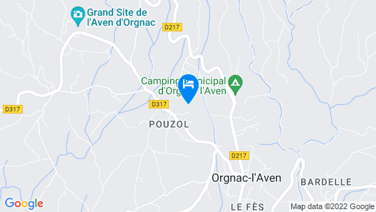 In the Southern Ardèche, House on a Forested and Fenced Ground With Pool, Quiet Map