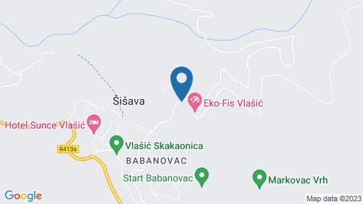 New Age Apartments Vlašić Map