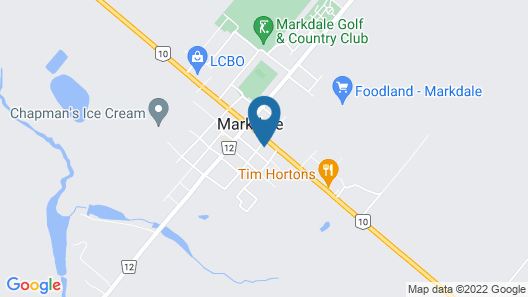 Markdale Manor Bed & Breakfast Map