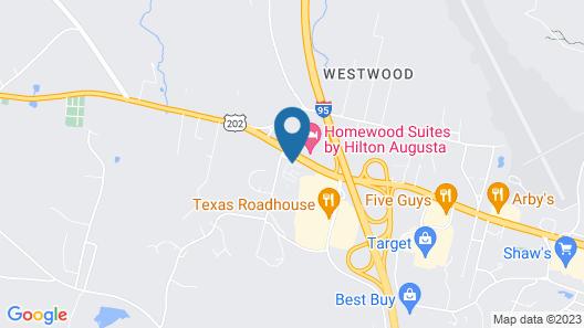 Hampton Inn Augusta Map