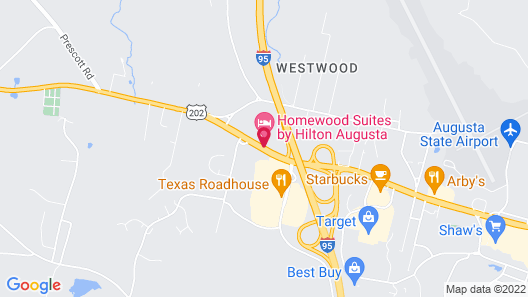 Homewood Suites by Hilton Augusta Map