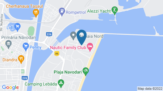 La mer Mamaia Nord Map