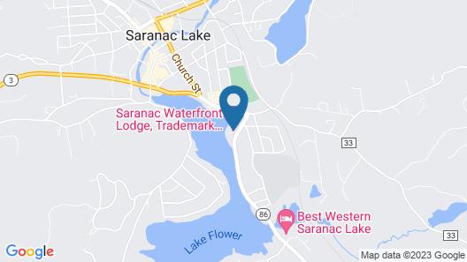Saranac Waterfront Lodge Map