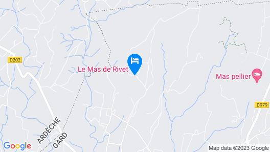 LE MAS DE RIVET Map
