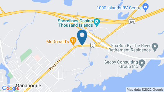 Holiday Inn Express Hotel & Suites Gananoque Map