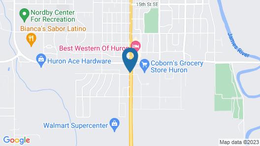 Super 8 by Wyndham Huron Map