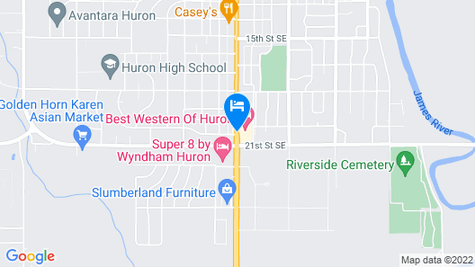 Best Western Of Huron Map