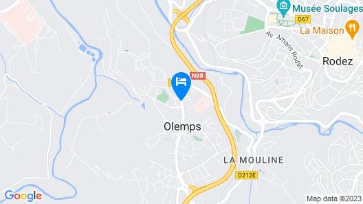 HOTEL Les Peyrières Map