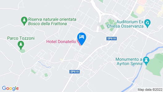Hotel Donatello Imola Map