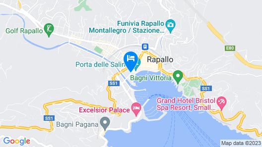 Hotel Astoria Rapallo Map