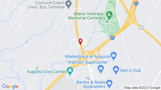 Comfort Inn Civic Center Map