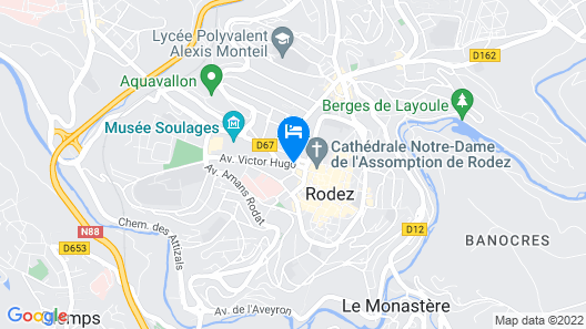 Mercure Rodez Cathedrale Map