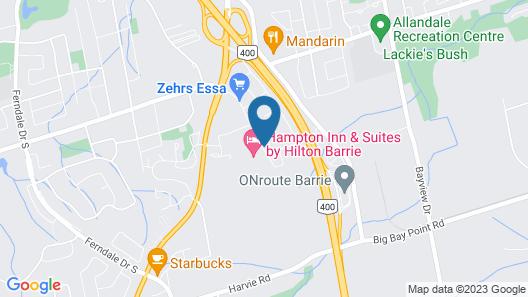 Hampton Inn & Suites Barrie Map