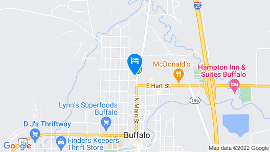 Blue Gables Motel and Coffee Shop Map