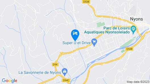 Résidence Lagrange Vacances Le Domaine de l'Oliveraie Map