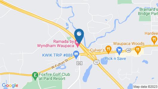Ramada by Wyndham Waupaca Map