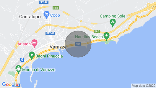 FIRST JULY WEEK in a large two-room apartment facing the Varazze sea Map