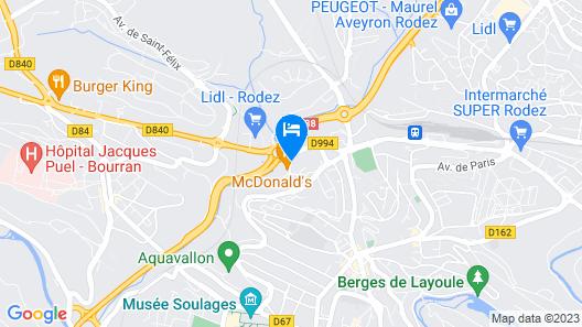 Premiere Classe Rodez Map