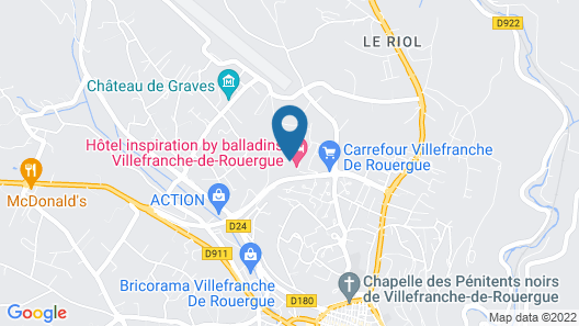 inspiration by balladins Villefranche-de-Rouergue Map