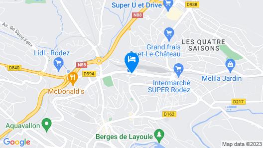 Hotel Kyriad Rodez Map