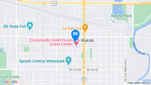 Crossroads Hotel at Huron Event Center Map