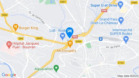 Campanile Rodez Map