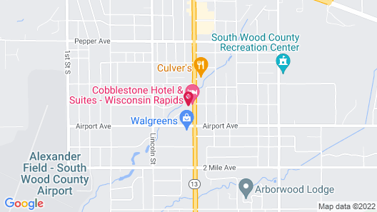 Cobblestone Hotel & Suites – Wisconsin Rapids Map
